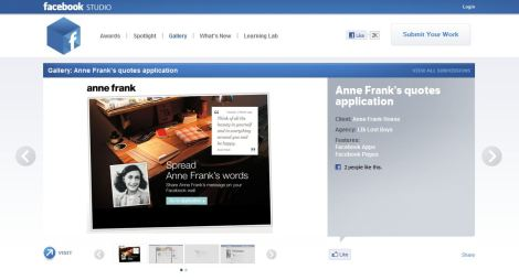 Lost Boys Anne Frank app in the Facebook Studio